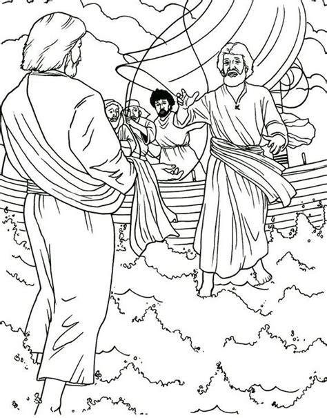 preschool coloring pages jesus jesus walks on water preschool bible stories for kids