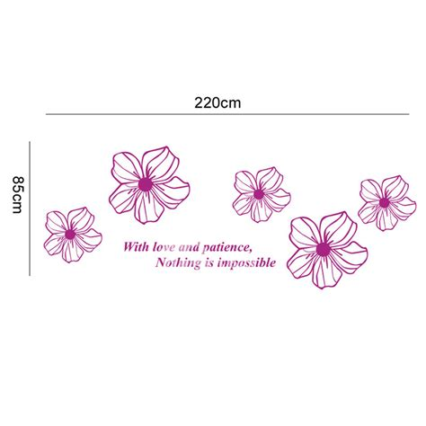unique decoration green purple kitchen plant decals decosee com flower wall decals purple yellow white blue pink acrylic