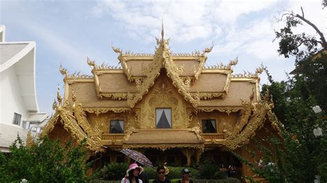 gold house gold house wat rong khun the white temple sylvie