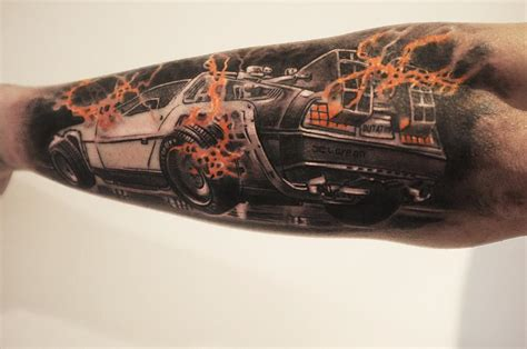 back to the future tattoo back to the future delorean best ideas gallery