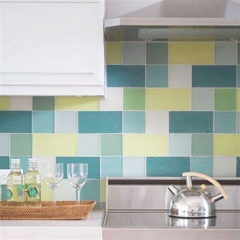 colorful glass tile backsplash what s the difference between bathroom and kitchen tiles