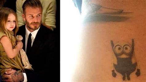 foto tato bintang di leher beckham pamer tato baru di leher tribunnews com