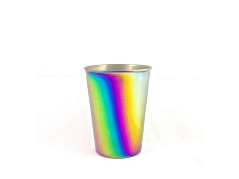 Rainbow Cup 9 oz tumbler cup rainbow onyx containers