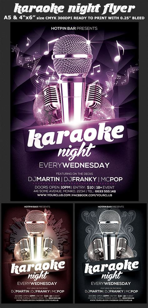 free templates for karaoke flyers karaoke night flyer template flyerstemplates