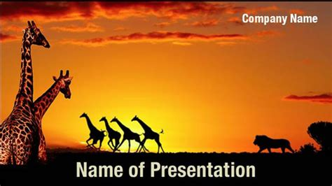 African Nature Concept Powerpoint Templates African Nature Concept Powerpoint Backgrounds Africa Powerpoint Template