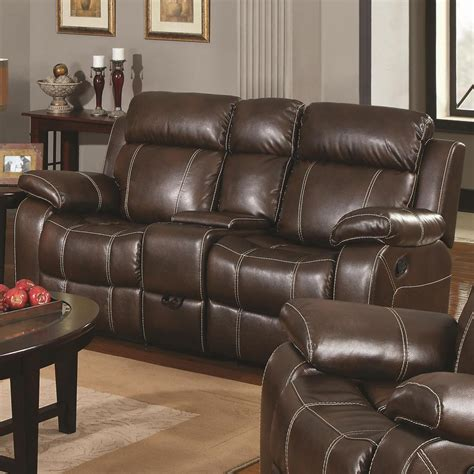 Brown Leather Sofa Recliner by Brown Leather Reclining Loveseat A Sofa Furniture