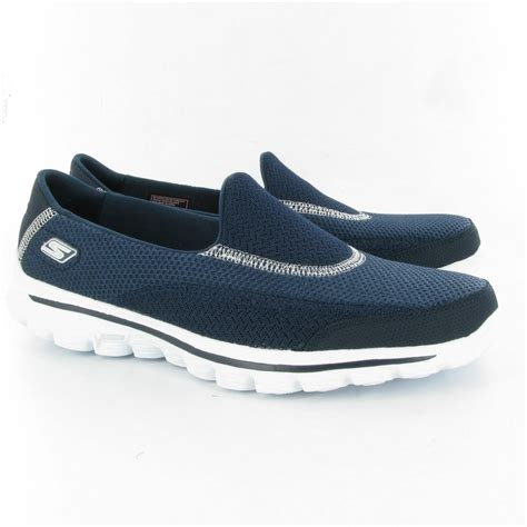 skechers 13590 go walk 2 shoes in navy