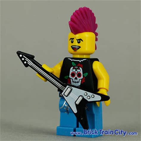 Lego Original Minifigure Rocker Rock Guitar Series rocker 8804 lego minifigures series 4 review