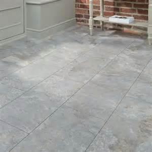 Professional v groove grey slate laminate tiles howdens
