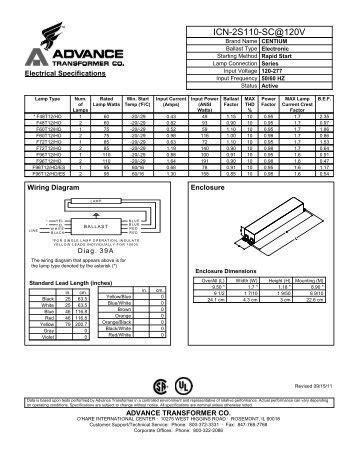 Advance F96 Ho Ballast Wiring Diagram