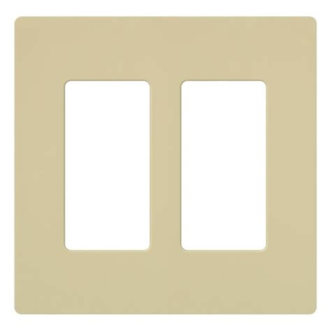 lutron claro 2 decora wall plate ivory cw 2 iv