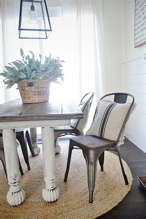 rustic metal  wood dining chairs farmhouse dining