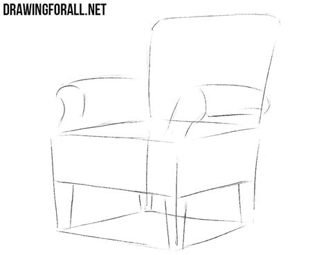 how to draw a armchair how to draw an armchair drawingforall net