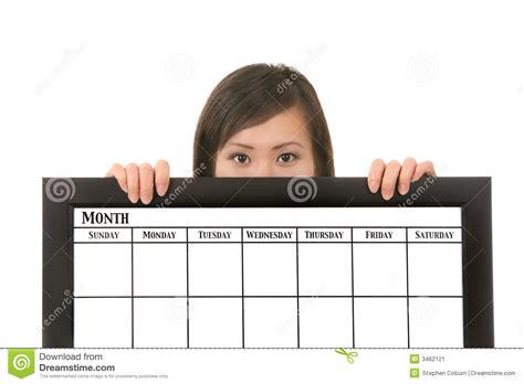 Calendar Holdings Holding Calendar Stock Image Image 3462121