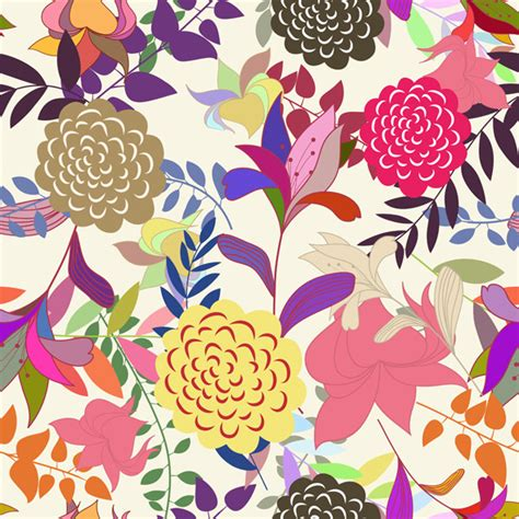 Pattern Flowers Illustrator | floral seamless pattern set by angelp graphicriver