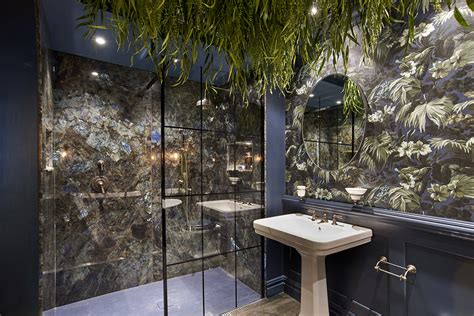 bold bohemian bathrooms  house  hackney  cp hart
