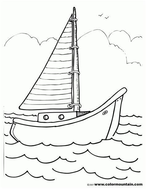boat drawing activity sailboat coloring page coloring home