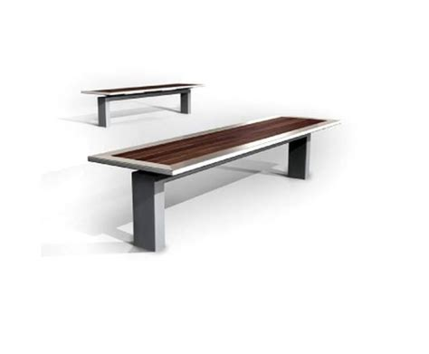 s30 steel s30 2 stainless steel and timber bench omos esi