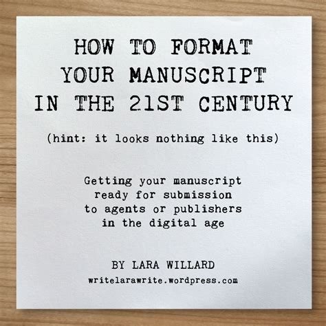 biography manuscript format manuscript format template free download lara willard