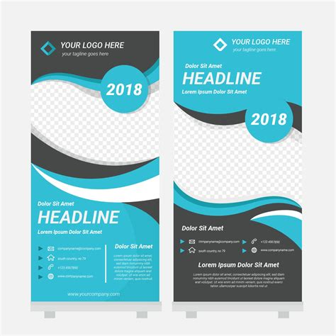 will template standee design template vector free vector