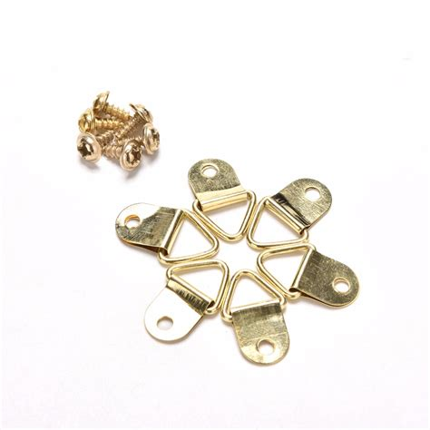 100pcs creative new golden picture hangers brass triangle photo popular brass picture hangers buy cheap brass picture