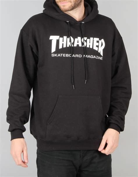 Hoodie Thrasher Cloth thrasher skate mag pullover hoodie black skate pullover hoodies mens hoodies clothing