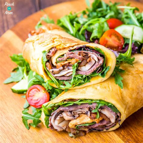Budget Dinner Party Recipes - low syn yorkshire pudding wrap slimming world pinch of nom