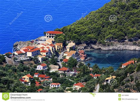 Small Mediterranean House Plans asos village cephalonia stock photo image 43118990