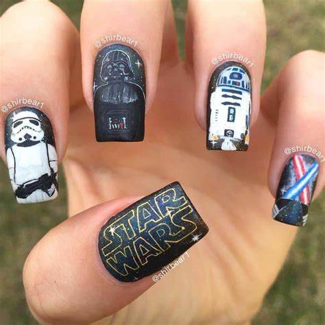 Darth Vader Nail Designs 20 wars nails to show for the trilogy