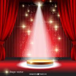 Red Stage Curtain Vector Stock Image Graphicstock » Home Design 2017