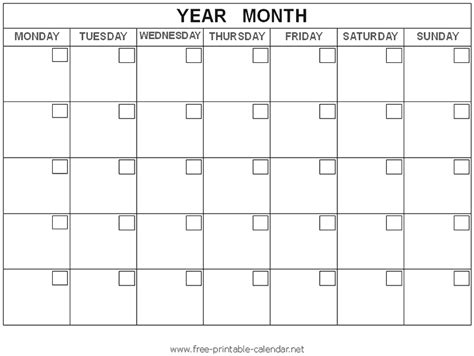 Blank Calendar Docs Calendar That Is Printable Free Printable Calendars