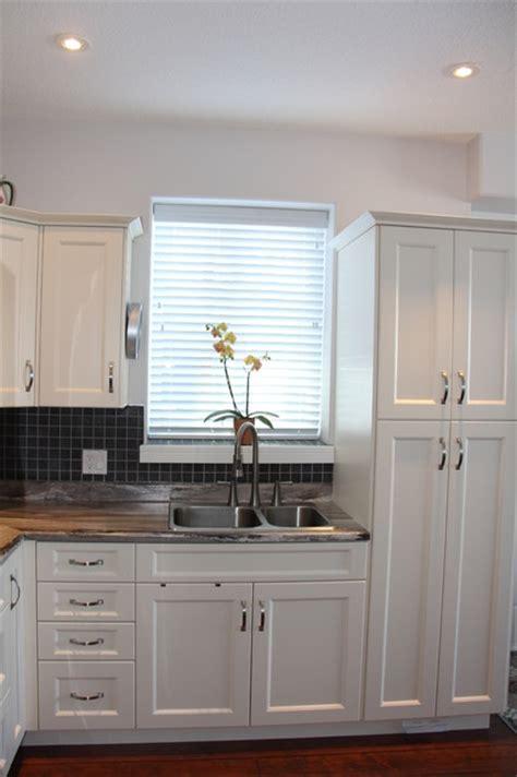 antique white shaker cabinets antique white pvc shaker style kitchen cbell river