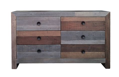 Multi Drawer Dresser Vintage 6 Drawer Dresser Multi Modern Digs Furniture