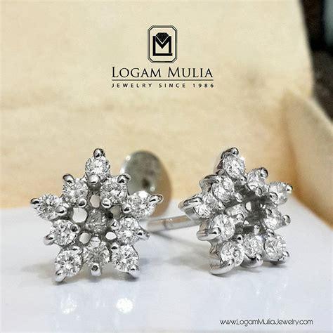 Tempat Perhiasan Kawin Cincin Gelang Bunga jual anting berlian wanita ettd3421 ri edl logammuliajewelry