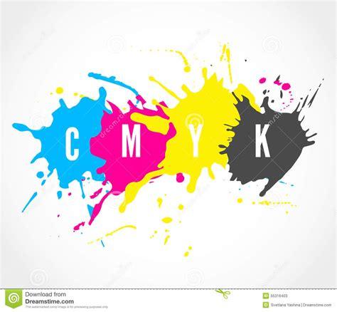 cmyk ink splashes logo stock vector image of identity 55316403