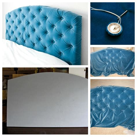making a padded headboard with buttons tufted headboard tutorial totally love it