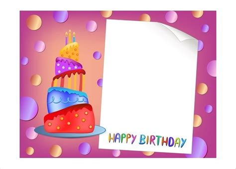 birthday card template insert photo blank birthday cards blank birthday card template birthday