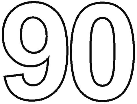 coloring page of the number 100 free 90 coloring pages