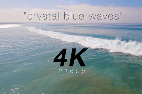 Blue Waves In Motion 4k Relaxing Screensaver Youtube   quot crystal blue waves quot a 4k nature relaxation video