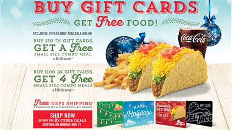 Del Taco Gift Card - del taco 2017 holiday gift cards archives chew boom