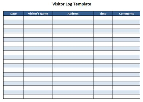 guest sign in book template visitor log template l vusashop