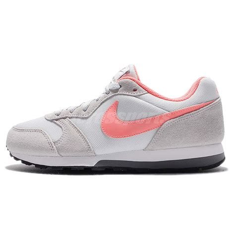 Nike Md Runner 2 Gray Pink nike md runner 2 gs grey pink suede womens retro