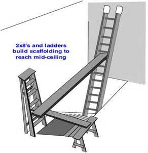 how to build scaffolding and paint high ceilings do it