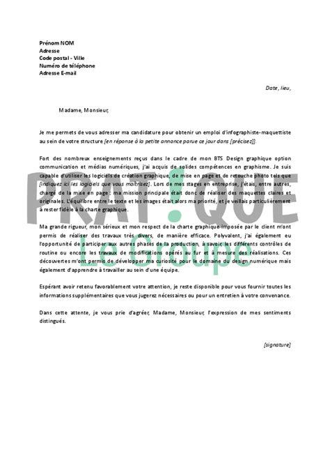 Exemple De Lettre De Motivation Infographiste Lettre De Motivation Pour Un Emploi D Infographiste Maquettiste D 233 Butant Pratique Fr