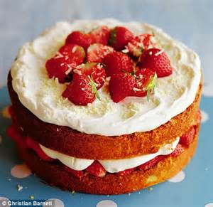 bring home the baking strawberry and white chocolate cream cake daily mail online