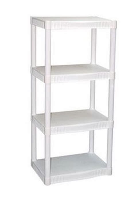plano 4 tier heavy duty plastic shelves only 13 48