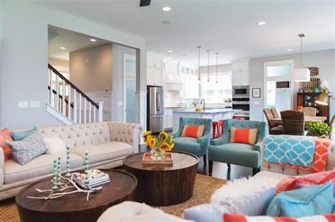 turquoise and coral living room coral and turquoise color palette inspiration hgtv s decorating design hgtv