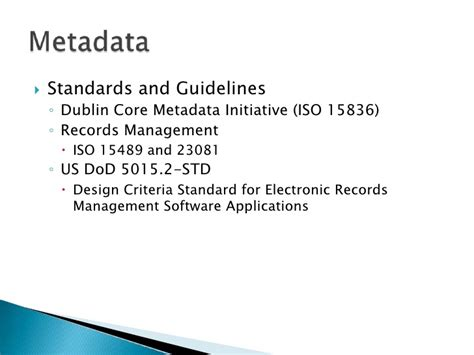 Design Criteria Standard For Electronic Records Management | taxonomy and metadata