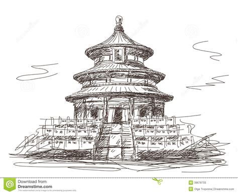 temple of heaven in beijing stock vector image 39678733