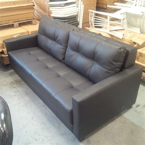 Comfy Sofas For Cheap by Priceworth 3 Seater Pu Leather Sofa Black Comfortable